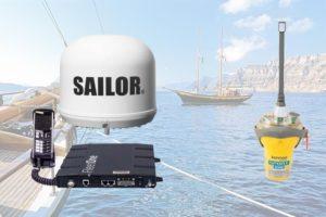 Marcom-B een must voor de gevorderde watersporter. Afbeelding van nautische hulpmiddelen.